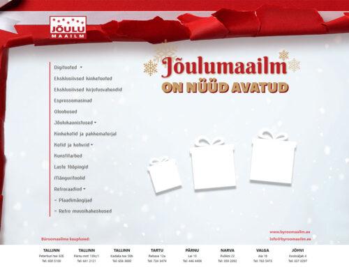 Büroomaailma onepager Jõulukampaaniaks